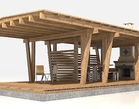 Garden Pergola Extension 3D