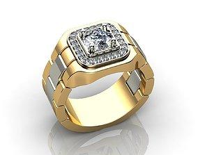 3D print model GOLD DIAMOND ROLEX RING