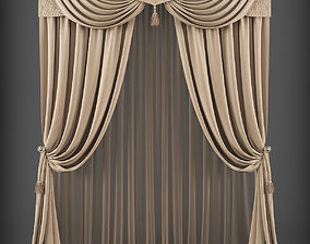 game-ready Curtain 3D model 211