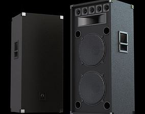 3D model Big Black Speakers