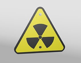 Triangular Hazard Sign 3D asset