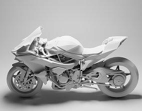 Kawasaki Ninja H2R 3D model low-poly