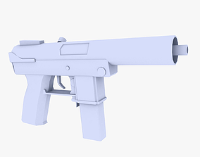 Tec 9 Submachine Gun 3D asset