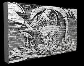 Graffiti wall 3D asset