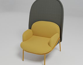 MESH - Medium-back wingchair - 3D model