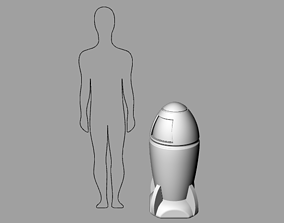 Tabletop miniature gaming Rocket Dustbin 3D print model 2