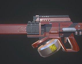 SCi-fi Plasma Fusion Gun 3D asset VR / AR ready