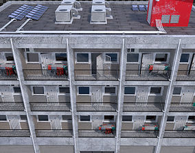 Photo realistic Low cost housing Apartment flat or 3D