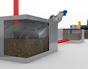 Waste Water System 3D model