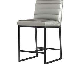 Crate and barrel channel leather counter stool 3d model