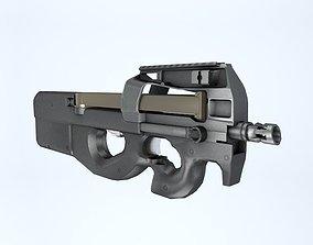 Shotgun low poly 3D asset