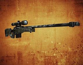 3D asset AWM Sniper rifle