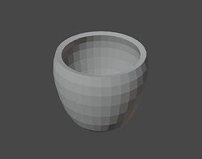 Big Vase No Material No textures 3D asset low-poly