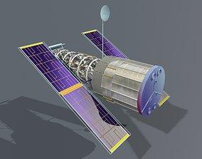 3D Hubble Space Telescope animated
