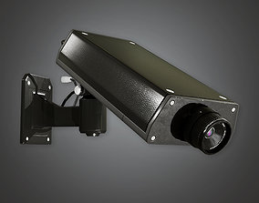 3D asset BHE -Security Camera 1 - PBR Game Ready