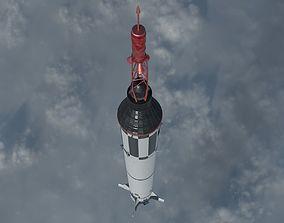 Mercury Redstone Rocket 3D model
