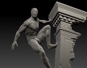 Spiderman statue fan art 3d print comic