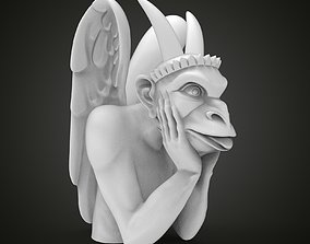 Chimera gargoyle of the Cathedral of 3D print model 3