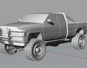 3D printable model 1996 Dodge Ram 1500 LIFTED
