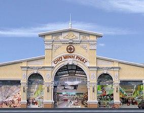 3D mall design exterior