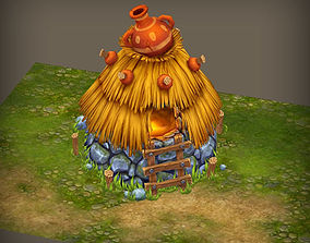 3D asset Small fantasy hut