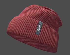 3D asset Beanie cap winter hat PBR game ready