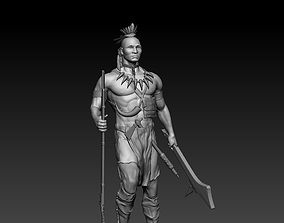 American indian Guron 3D printable model