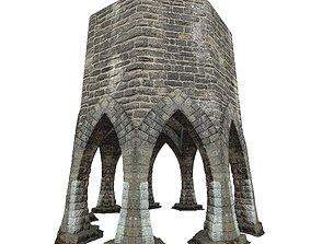 3D model Gatehouse 01 Aqueduct Circle Pillar 03