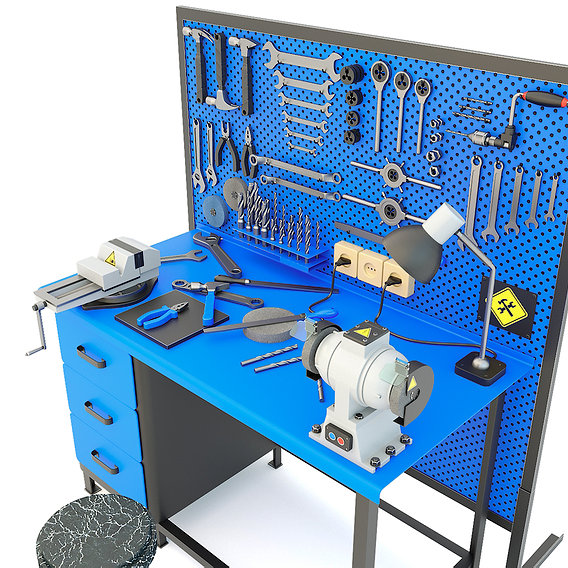 Workbench and garage tools (21 Items) - Collection 3