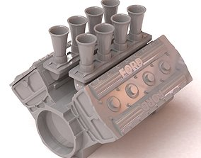 Ford Cosworth V8 Engine 2 lables printable