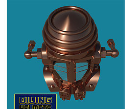 Antique diving helmet 3D asset