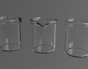 3D model Glass beaker