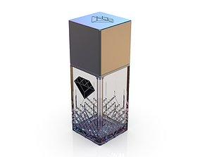 3D model Diamond cosmetics bottle - 42x42 mm - V - 90 mL