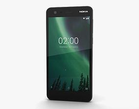 3D model Nokia 2 Pewter Black