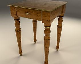 3D model bedroom Wooden Nightstand