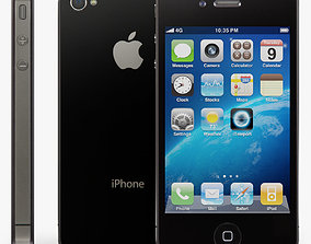 Apple iPhone 4 3D model low-poly