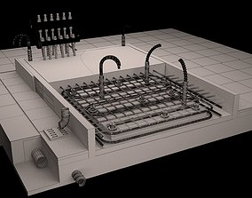 3D printable model Floor heating system