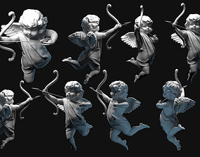 child cupid angel for valentines day 3D