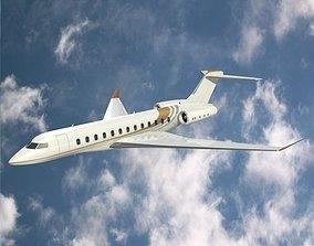 3D model Bombardier global 8000 luxury jet