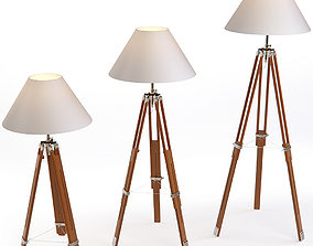Floor Lamp On A Tripod K2km008f by Garda Decor 3D model