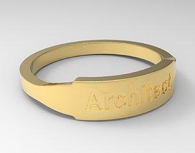Architect Female Ring Gold 3D print model
