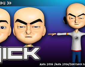 Nick Character 3D model