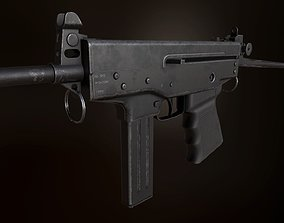 3D model PP-91 KEDR submacine gun