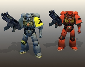 Space Marines Rigged 3D model