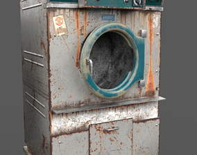 Old Dryer Of The Abandoned Hospital 3D asset
