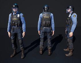 3D model Policeman 2