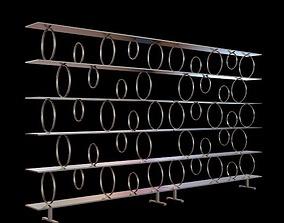 Contemporary Shelf Unit 3D