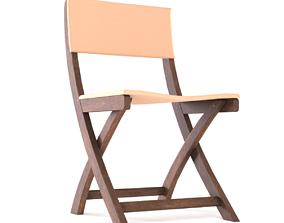 Foldable Wooden Chair 3D asset
