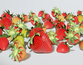 realtime Strawberry 3D collection