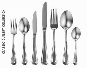 3D model Classic Cutlery Set 7 Pieces